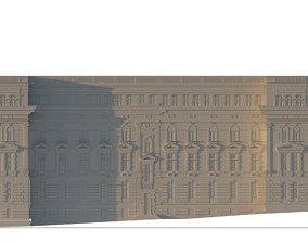 3D Side facade of Faculty of Architecture