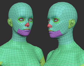 3D asset game-ready Female Basemesh low