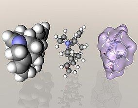 3D Strychnine molecule