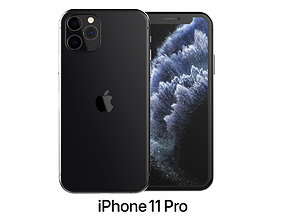 Apple iPhone 11 Pro Space Gray pro 3D model