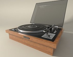 Pioneer vintage record player 3D