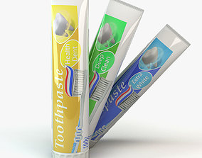 3D tube of toothpaste food