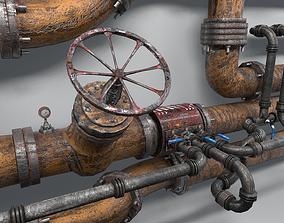 3D asset Modular Industrial Pipes