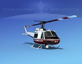 Bell 204 Alaska Air Ambulance 3D model animated