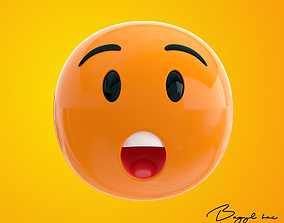 3D asset Emoji Astonished