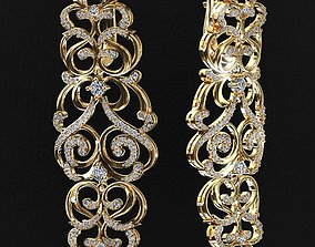 3D print model Royal earrings
