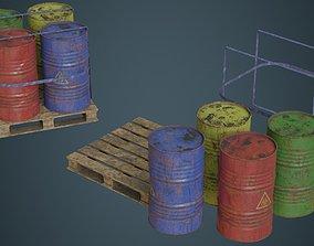 Barrel 1C 3D asset