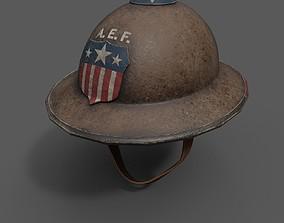 Helmet military Scifi ver18 3D asset