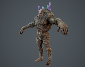 Rock Character Design 3D model game-ready