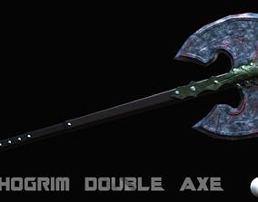 3D asset Thorgrim Double Axe