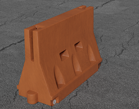 3D Plastic Traffic Barrier