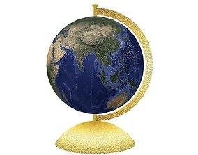 Globe 3D model game-ready