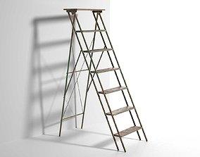 3D Vintage Step Ladder