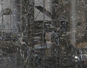 Wall Tiles Museum Laurent Black 60x120 Set 2 3D