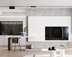 Metro Apartment Design 3D model