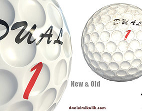 Golf Ball Low Poly PBR Textures 2 Types 3D model