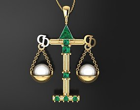 3D print model Astrological Sign In Pearl And Gold dior