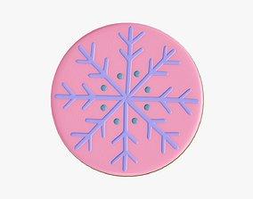 3D Cookie snowflake Christmas 02