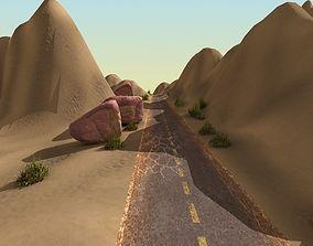 Desert Landscape with Road 3D