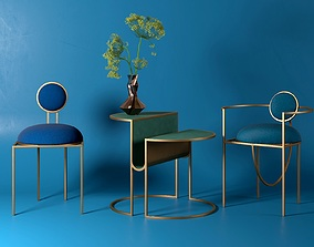 3D model Orbit Chairs and Table