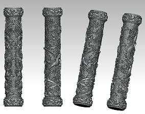 3D print model Pillars of Dragon and Phoenix