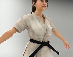 3D Karate Lady V2 NR