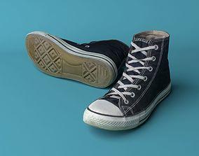 Converse shoes 3D model low-poly