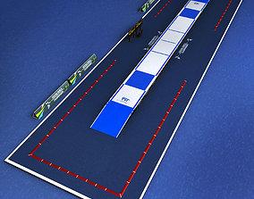 Fencing piste arena 3D asset