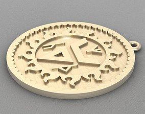 3D printable model Pendant rune A