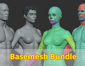 3D model game-ready Basemesh Bundle