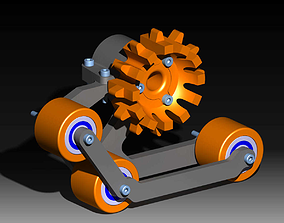 Snowboss track set for AXIAL CAPRA V2 3D printable model 1