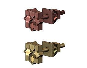 Moucharabih motif stud earring 3D print model
