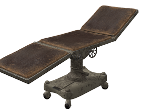 Old Hospital Operating Table 3D model