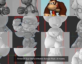 3D NIntendo Supr Mario 8 Models Bumper Pack