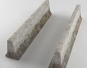 Traffic concrete barrier 01 3D model