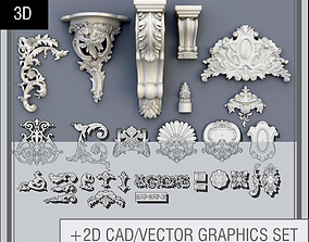Swag Ornaments Collection 3D model