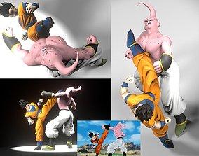 SON GOHAN VS SUPER BUU 3D print model