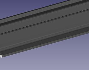 3D printable model tram rail