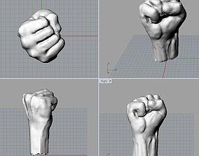 3D printable model fist symbol