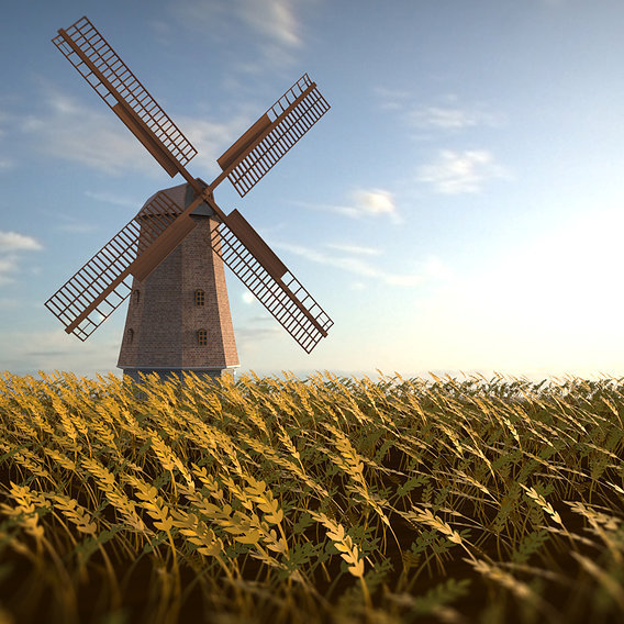 Windmill Rendering