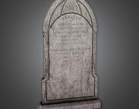3D asset Grave Stone Cemetery 4 CEM - PBR Game Ready