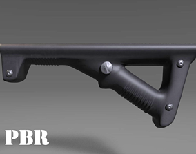 Angled Grip - Foregrip - Weapon Attachment - 3D model 3
