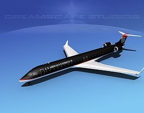 3D Bombardier CRJ900 US Air Express