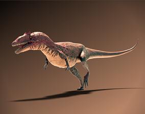 3D asset rigged realtime Allosaurus