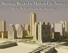 3D Building Blocks for Modern City Scenes - Kit 01