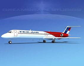 3D model Douglas DC-9-50 Texair