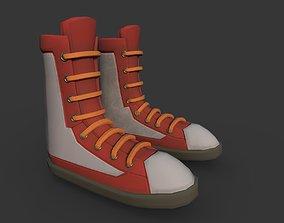 Boots Red 3D asset