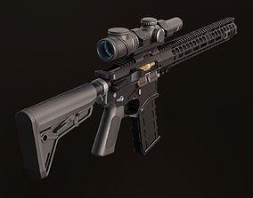 Colt AR-15 3D asset