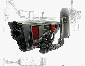Security camera 03 sci-fi low poly 3D asset