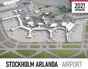 3D asset game-ready Stockholm Arlanda Airport